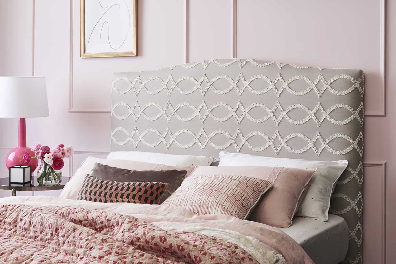 Valentine upholstered bedhead, Kate Space