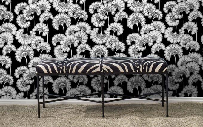 Florence Broadhurst Tiger Stripe Footstool