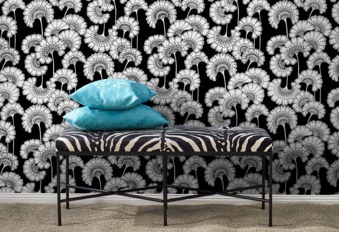 Footstool tiger stripe Florence Broadhurst
