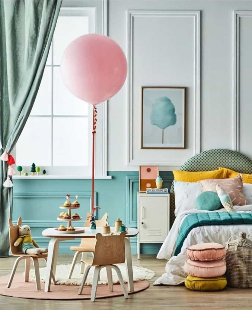 The stella bedhead creates a special space for a child